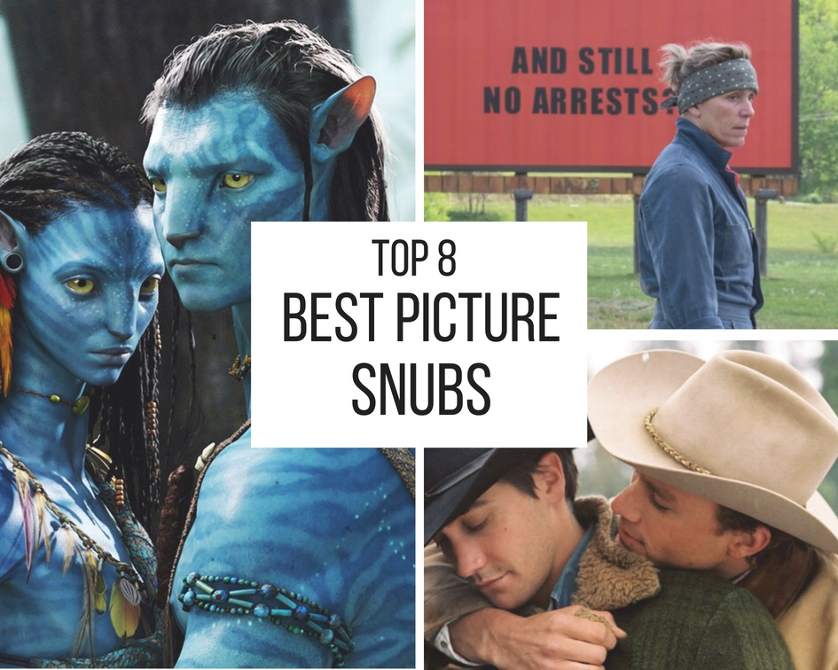 Top 8 Best Picture Snubs